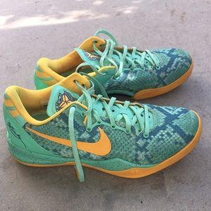 Nike Kobe 8 System green glow laser orange